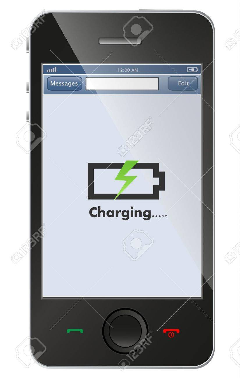 phone charging Banque d'images - 21330725