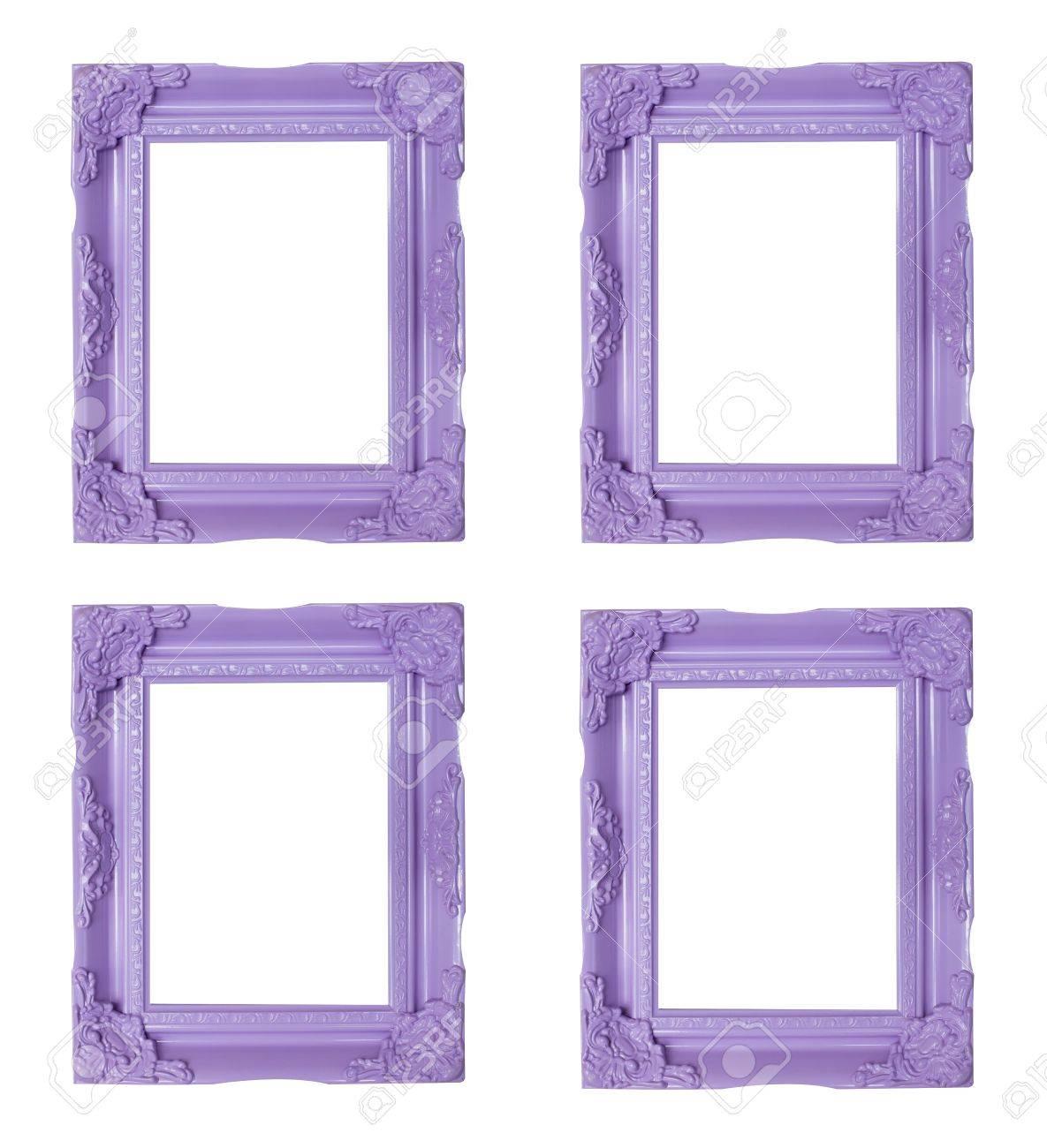 Cuatro Marcos De Color Púrpura Fotos, Retratos, Imágenes Y ...