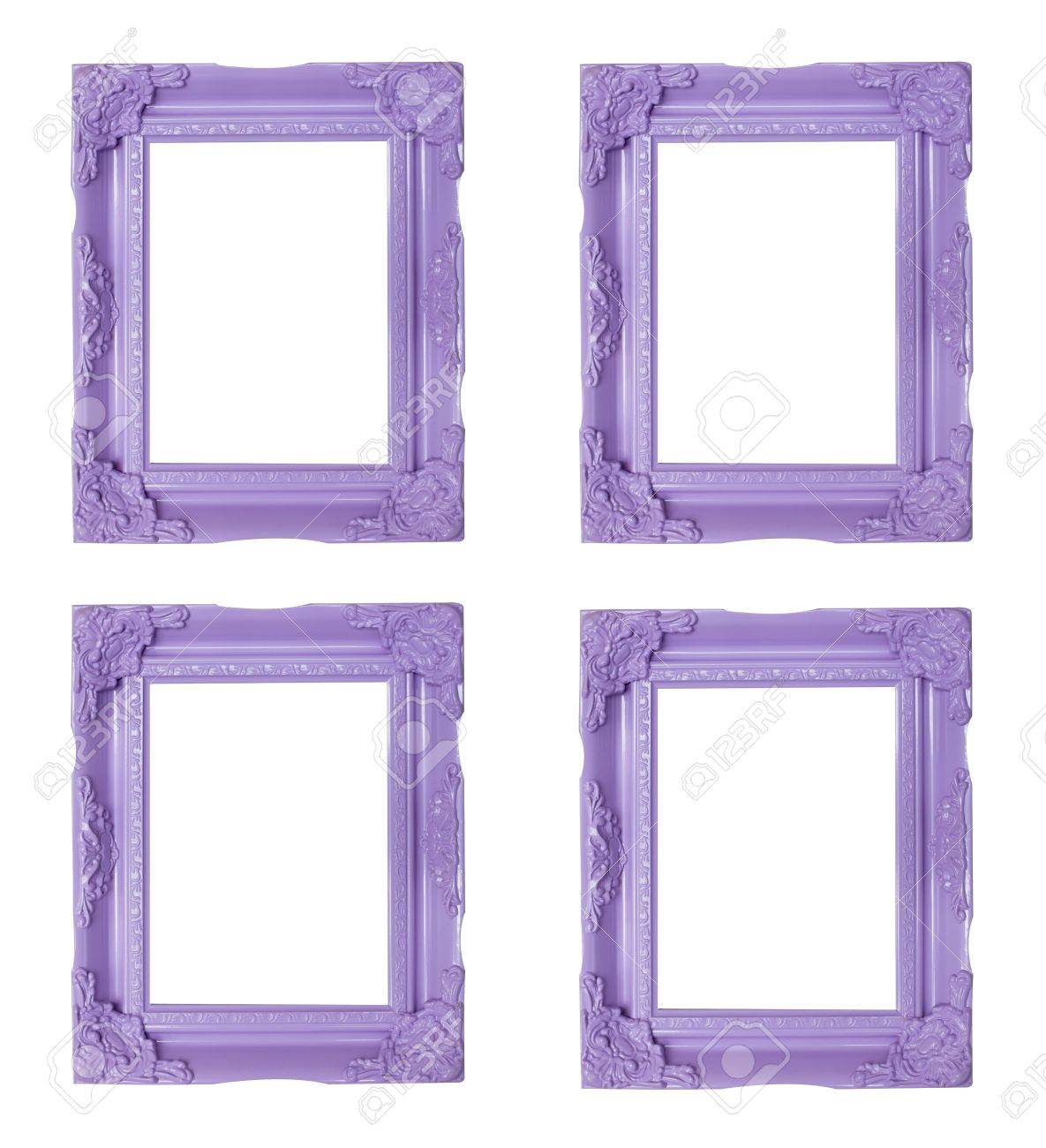 Four Purple Picture Frames Stock Photo, Picture And Royalty Free ...