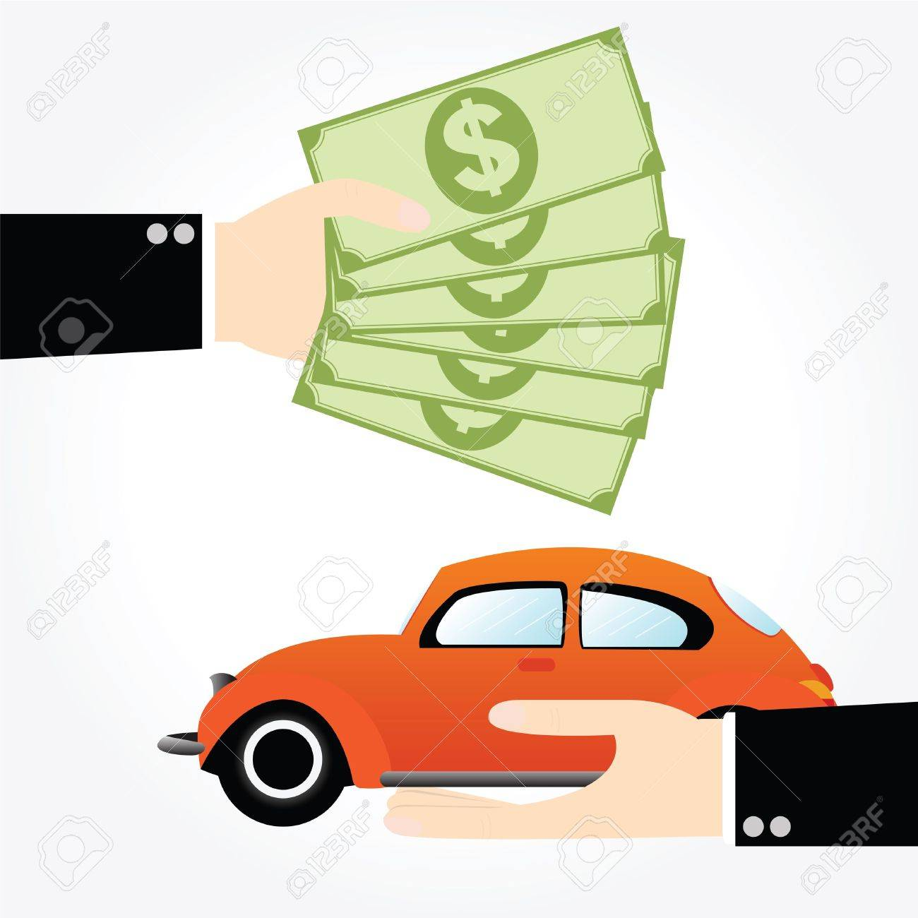 Business Exchange Money For Car Royalty Free Cliparts, Vectors ...