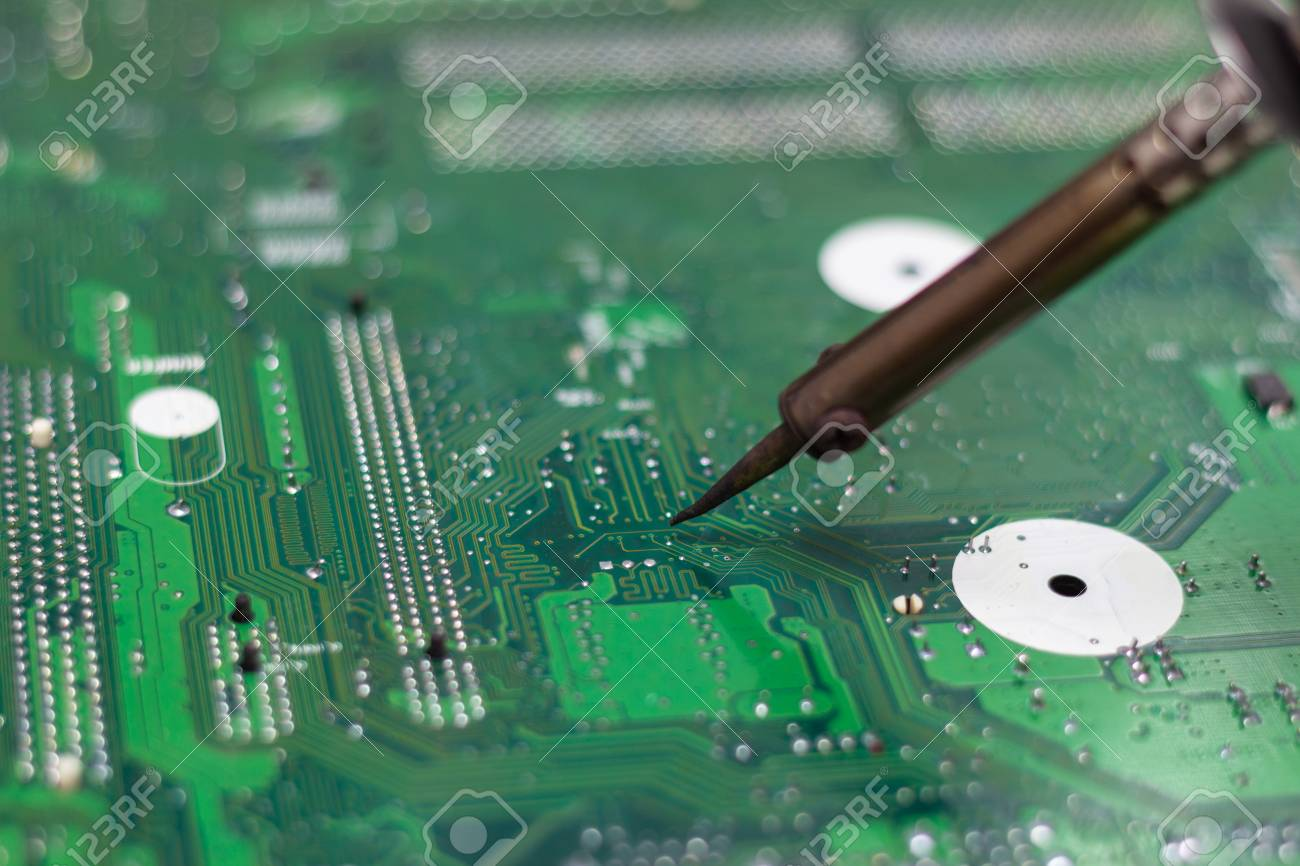 Repair Electronic Circuit Board Royalty Free Stock Images Image Technician Repairing Of The Computers Photo By Soldering Irons Concept Technology Computer Hardware