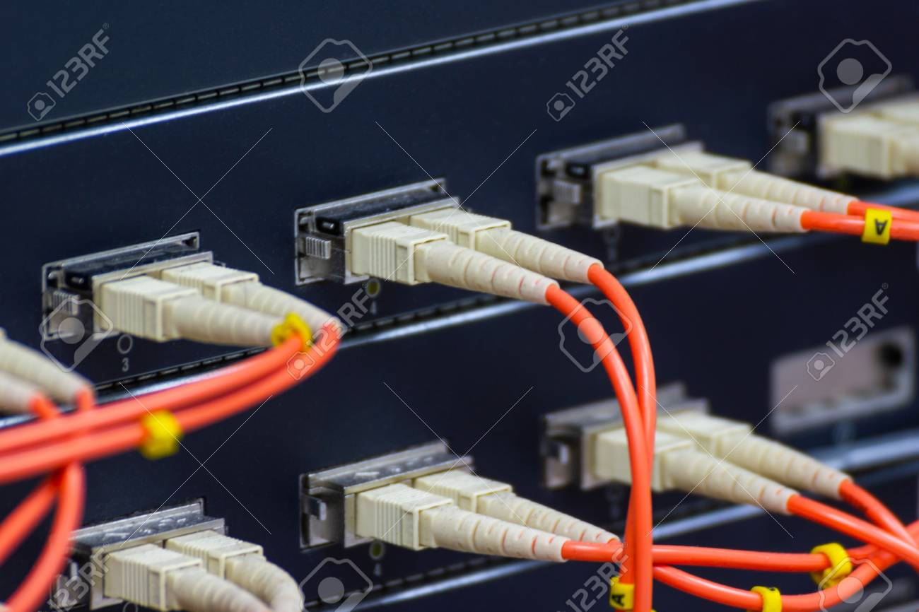 The Fiber Optic Cable to connect SFP module port in the Datacenter
