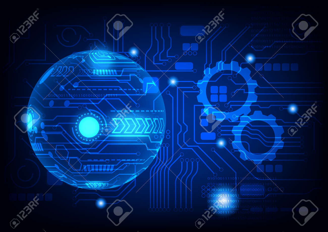 graphics design illustration digital circuit with binary coded decimal diagram technology for background wallpaper vector illustration  - 168562678