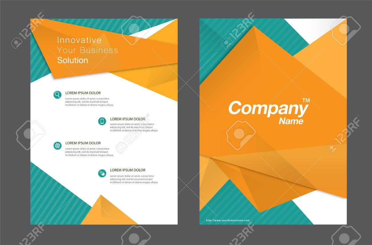 Modele D Orange Flyer Resume Clip Art Libres De Droits Vecteurs Et