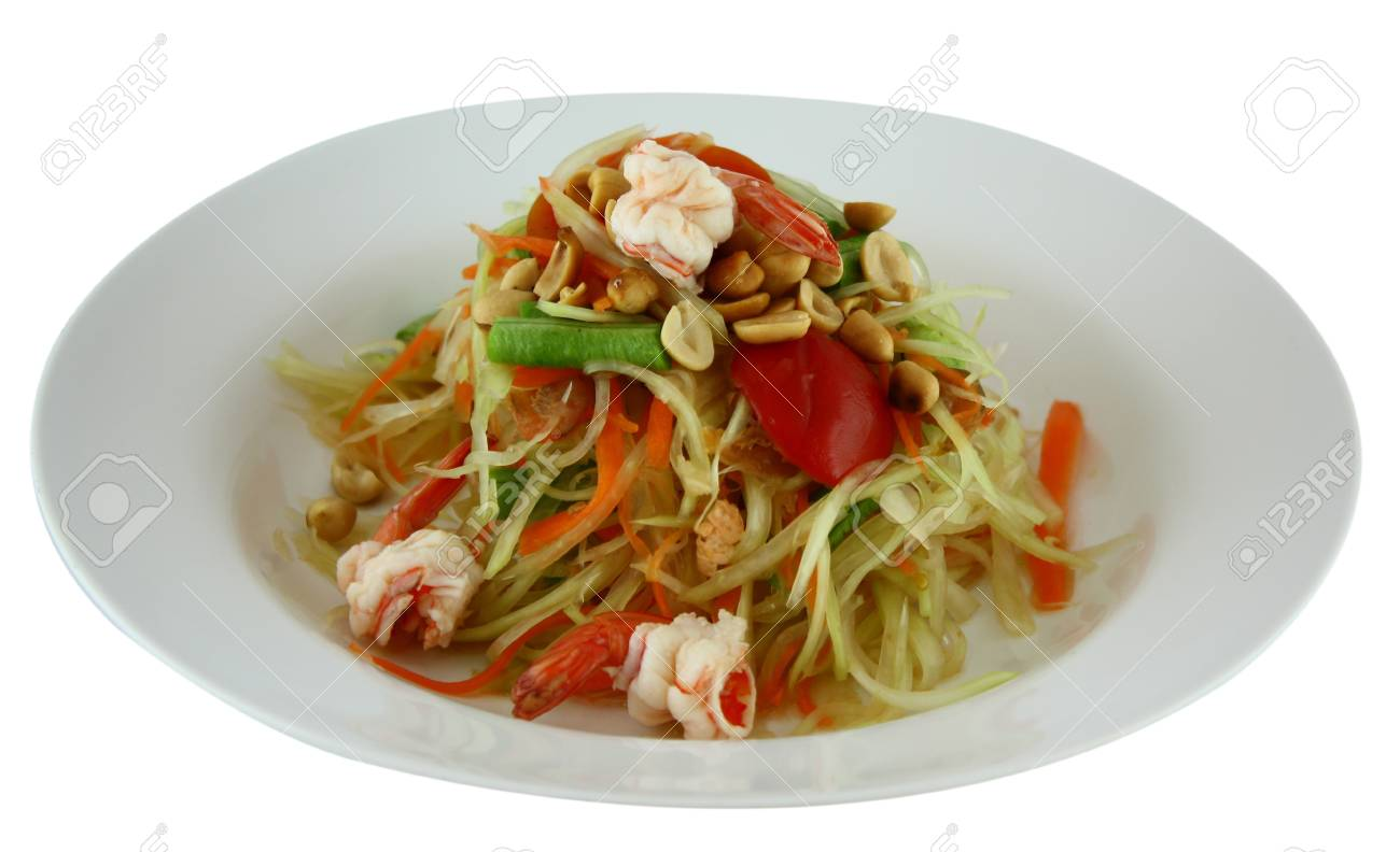 Thai Papaya Salad Stock Photo - 14604619