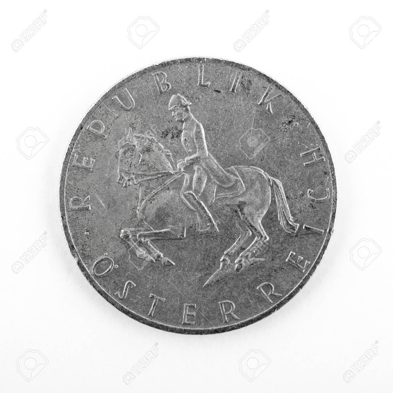 Alte österreichischen 5 Schilling Münzen Vor Euro Lizenzfreie