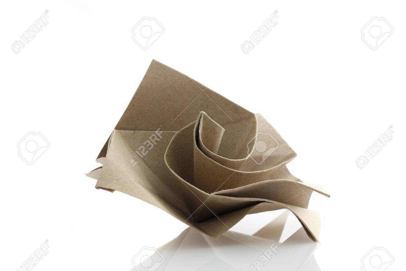 Origami Rose Flower By Recycle Papercraft Stock Photo Picture And