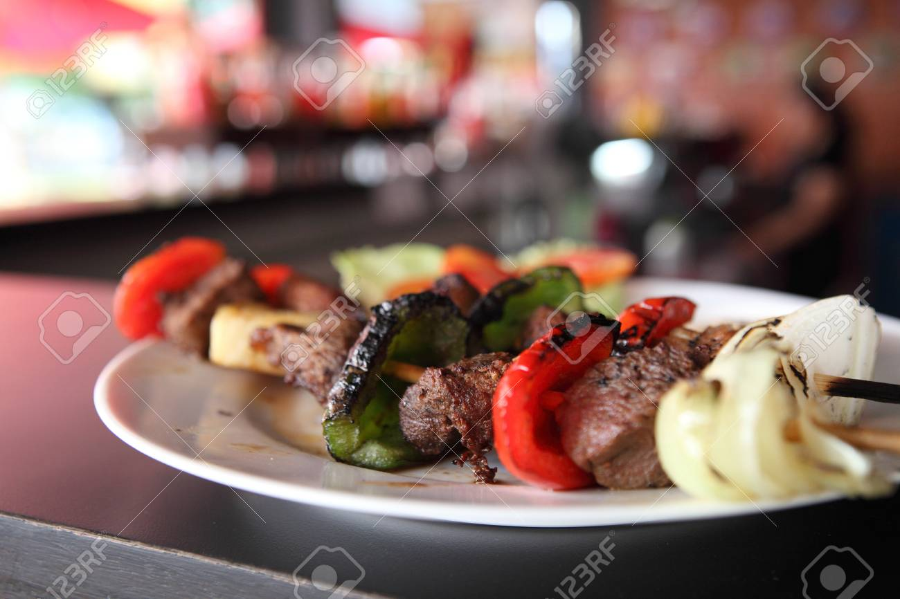 beef kababs on the grill closeup Stock Photo - 15535785