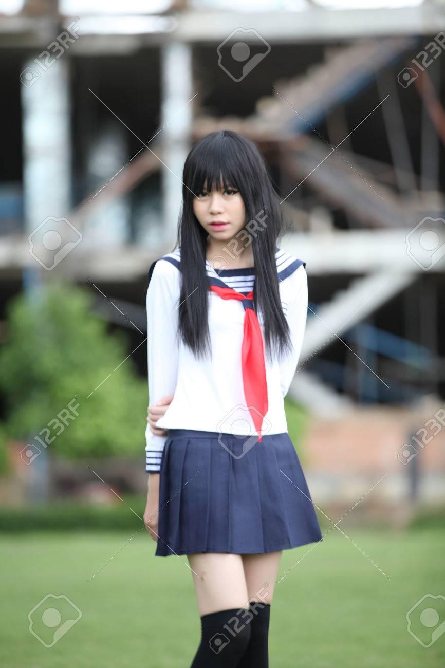 Japanese Asian Schoolgirl Stock Photo 42265015