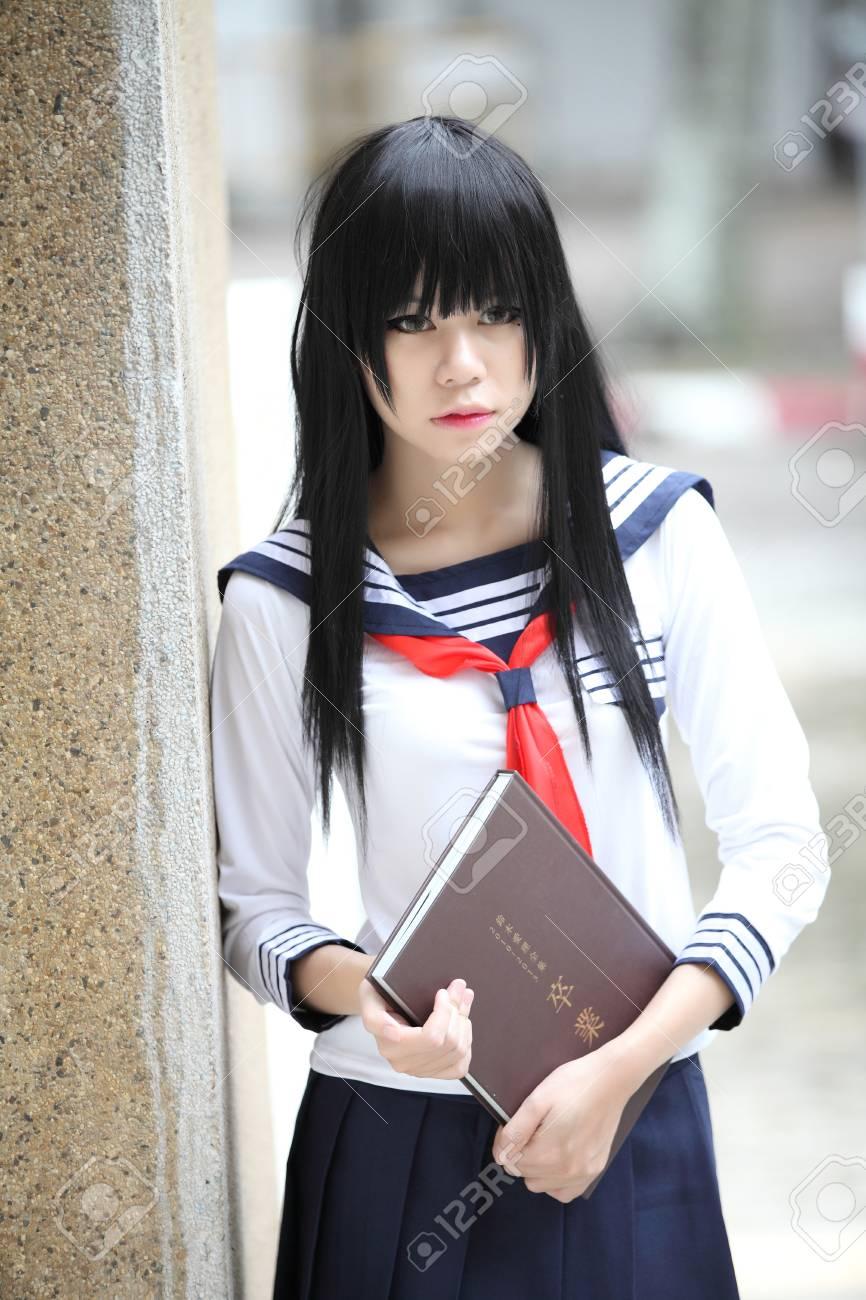 Japanese Asian Schoolgirl Stock Photo 42264297
