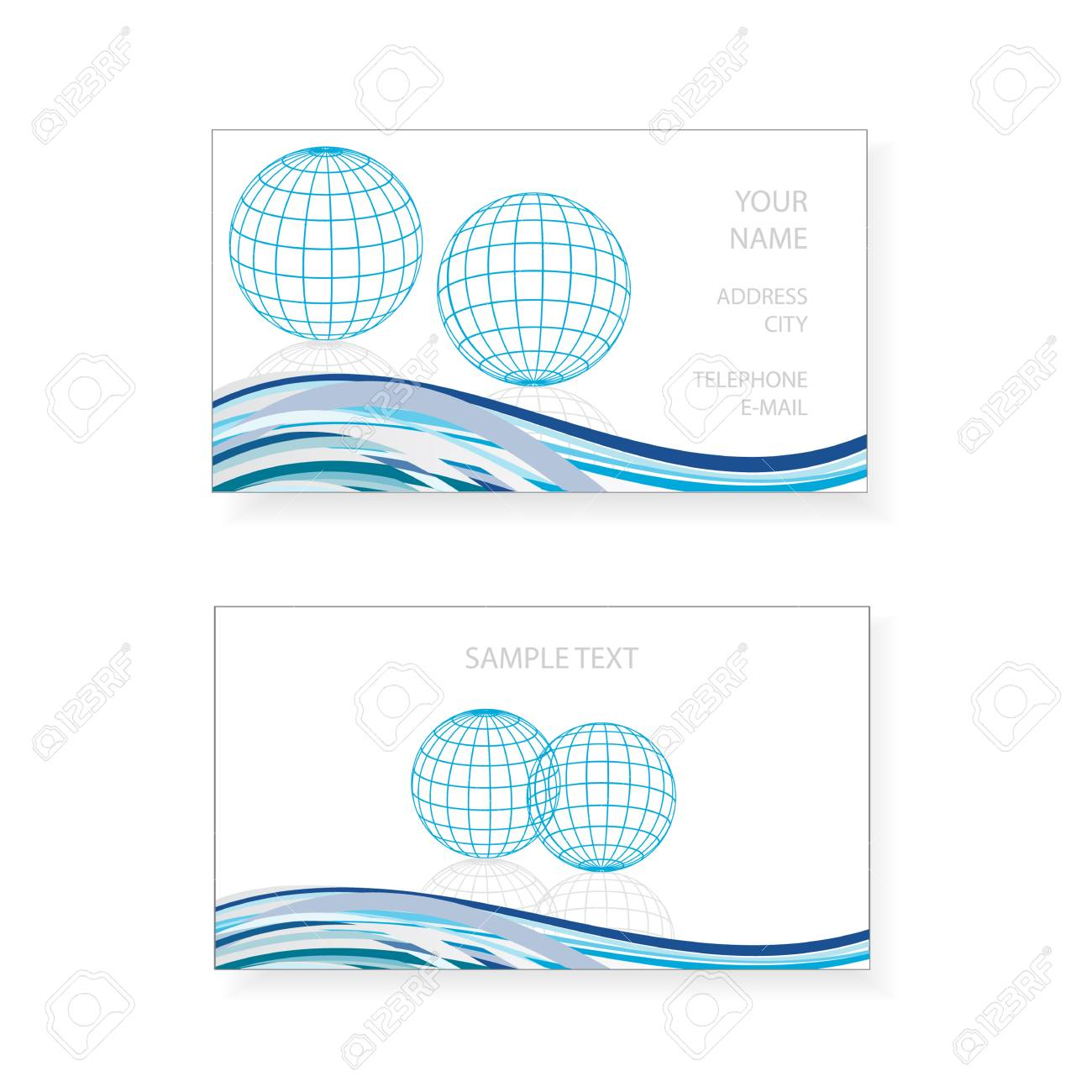 Business card design with earth globe icon royalty free cliparts business card design with earth globe icon stock vector 25098772 reheart Images