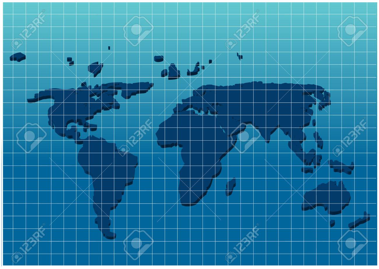 Blue world map on grid paper royalty free cliparts vectors and blue world map on grid paper stock vector 25317526 gumiabroncs Gallery