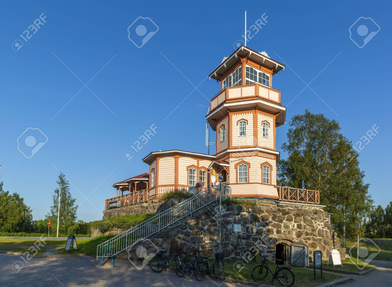 Former observatory built on the remaining powder magazine of the Oulu Castle, Finland - 132022069