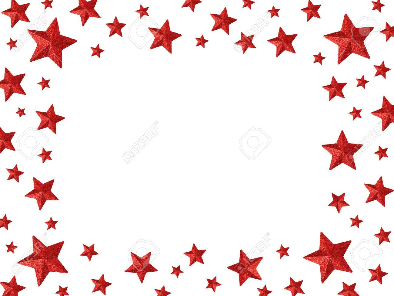 The Magic Frame - Red Stars Isolated On A White Background Stock ...