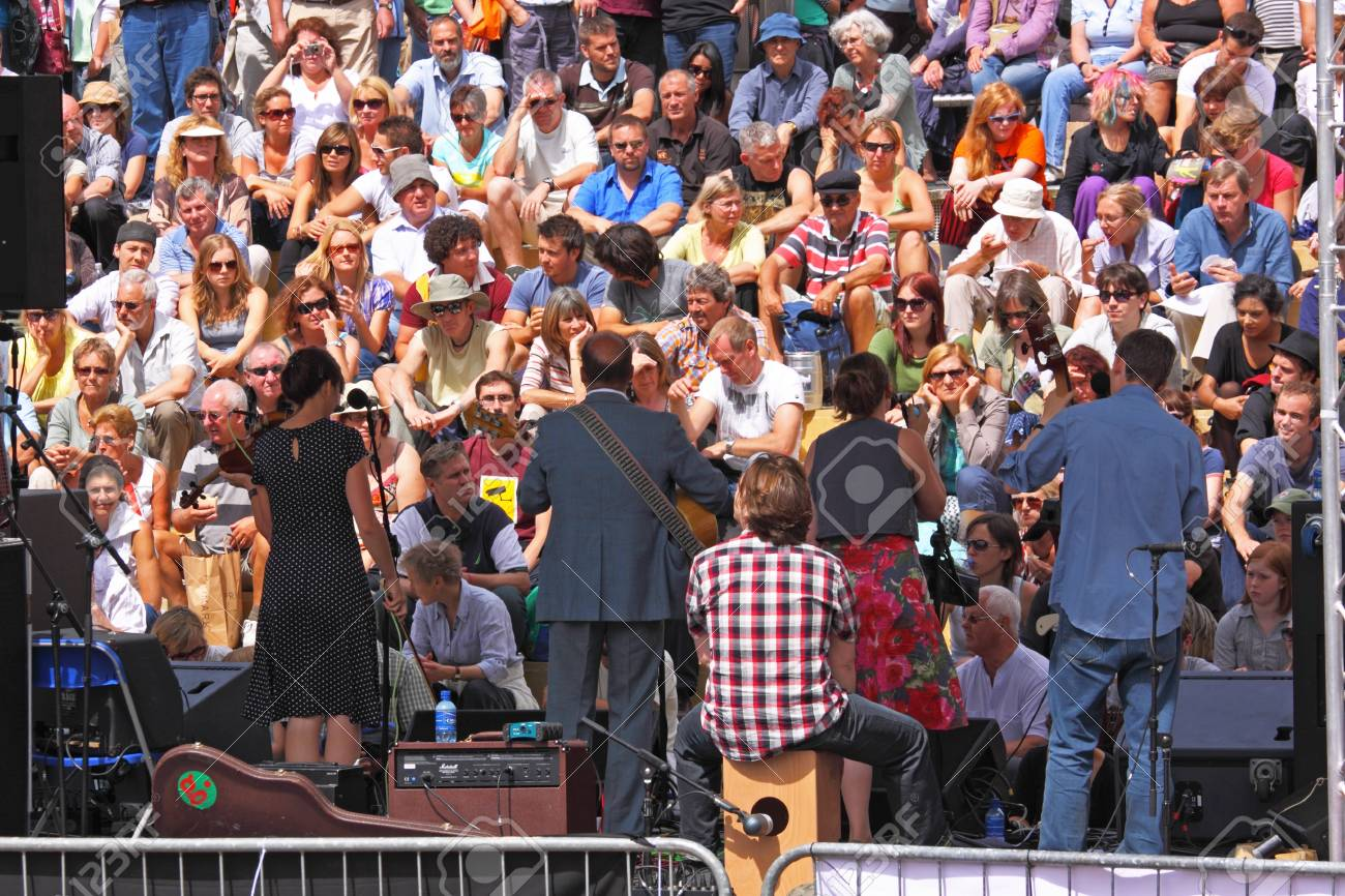 Bristol, UK - August 1, 2010 - Band on stage at the annual free Harbour Festival, attended by 250,000 people over three days Stock Photo - 8652882