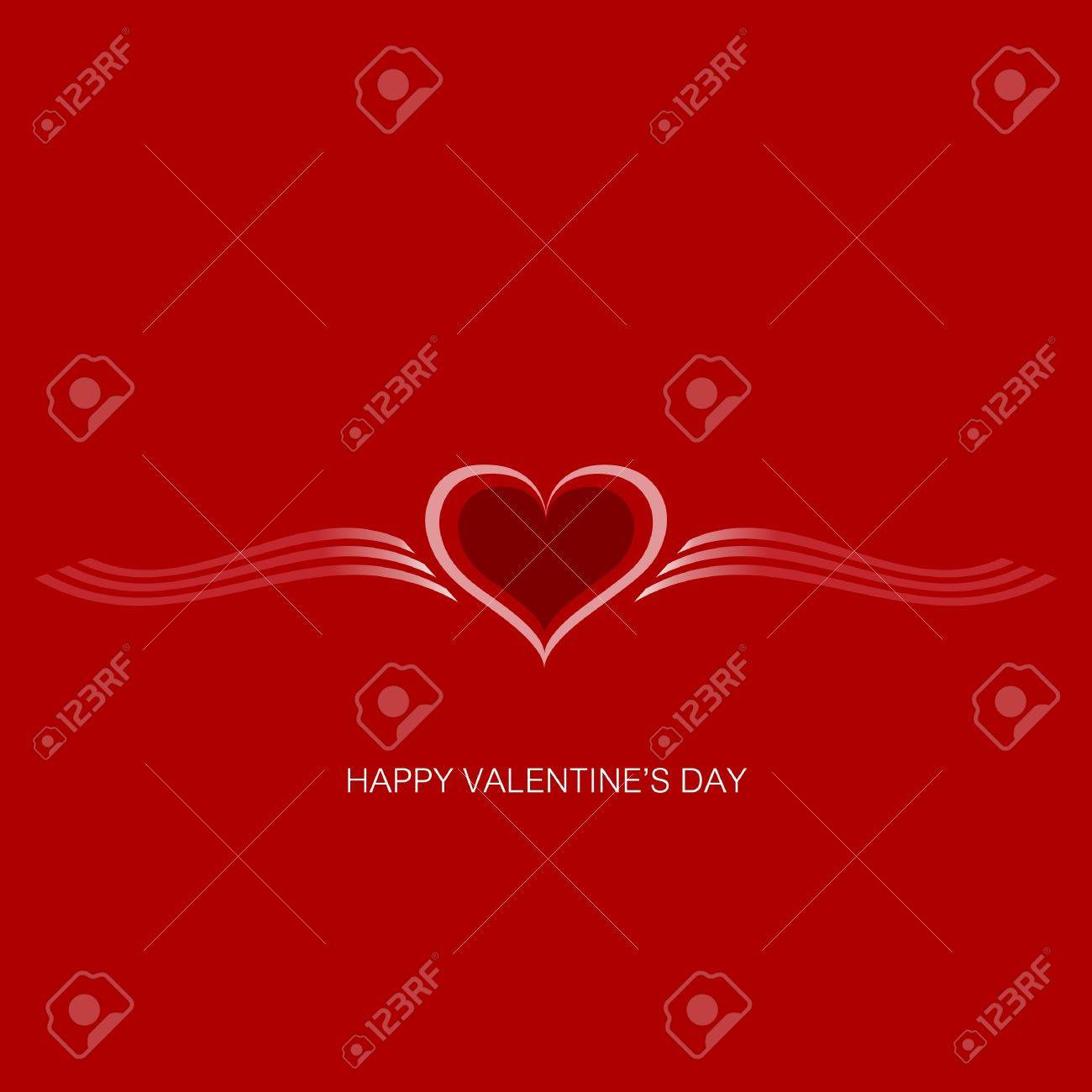 Valentine Gift card  Valentine s Day  background Stock Vector - 17448987