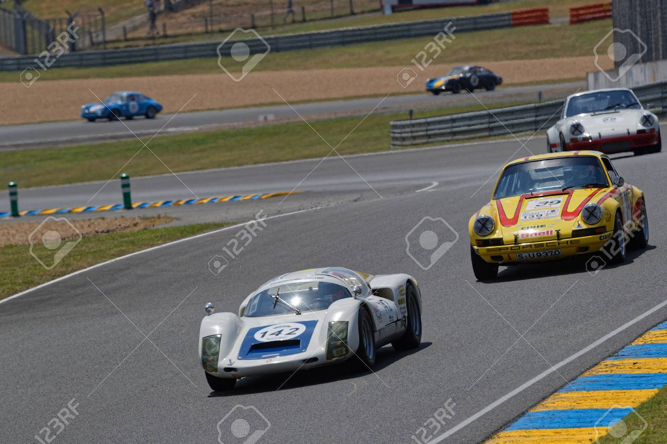 Le Mans France July 7 2018 A Porsche Race During Le Mans Stock Photo Picture And Royalty Free Image Image 106981031
