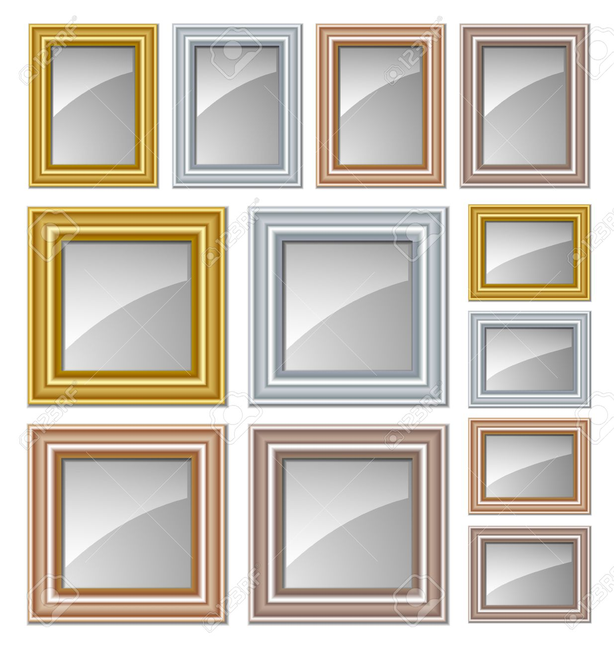 Gold, Silver, Bronze And Copper Frames Suitable For Pictures ...