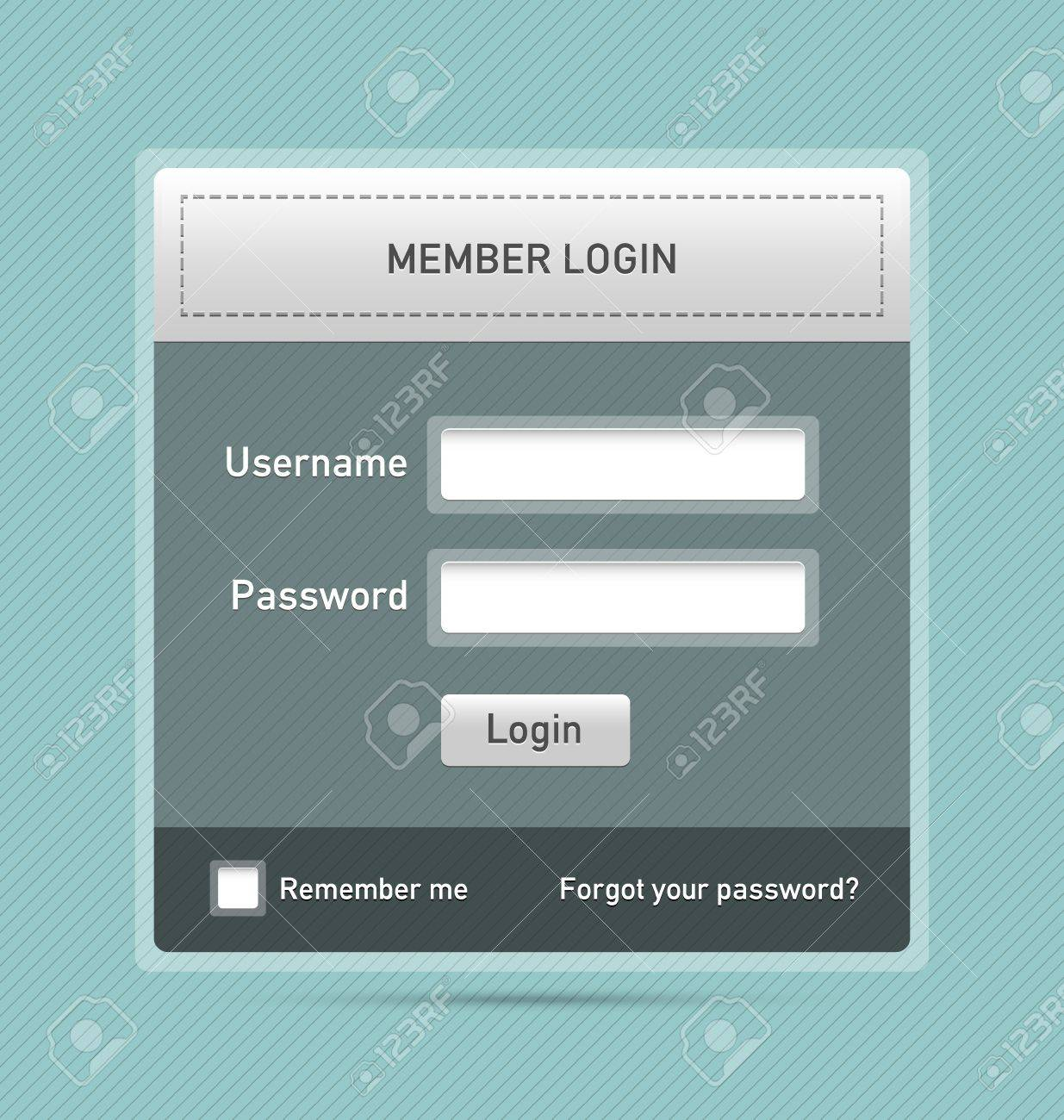 Easy customizable semitransparent member login website element Stock Vector - 11294451