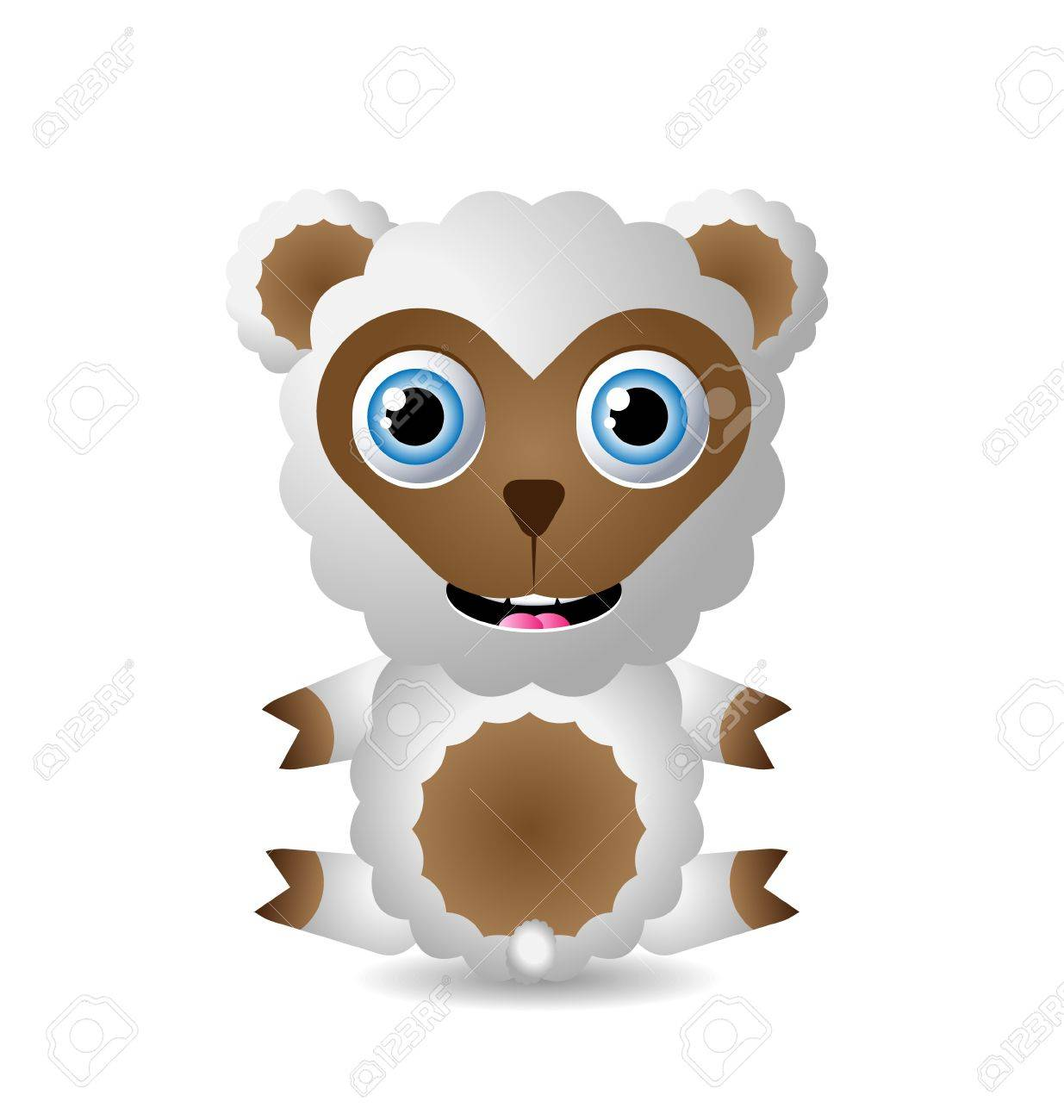 Cute animal character isolated on white background Stock Vector - 11294403