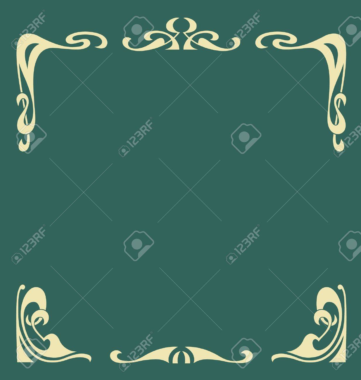 Ornamental vintage frame in secession style Stock Vector - 11660626