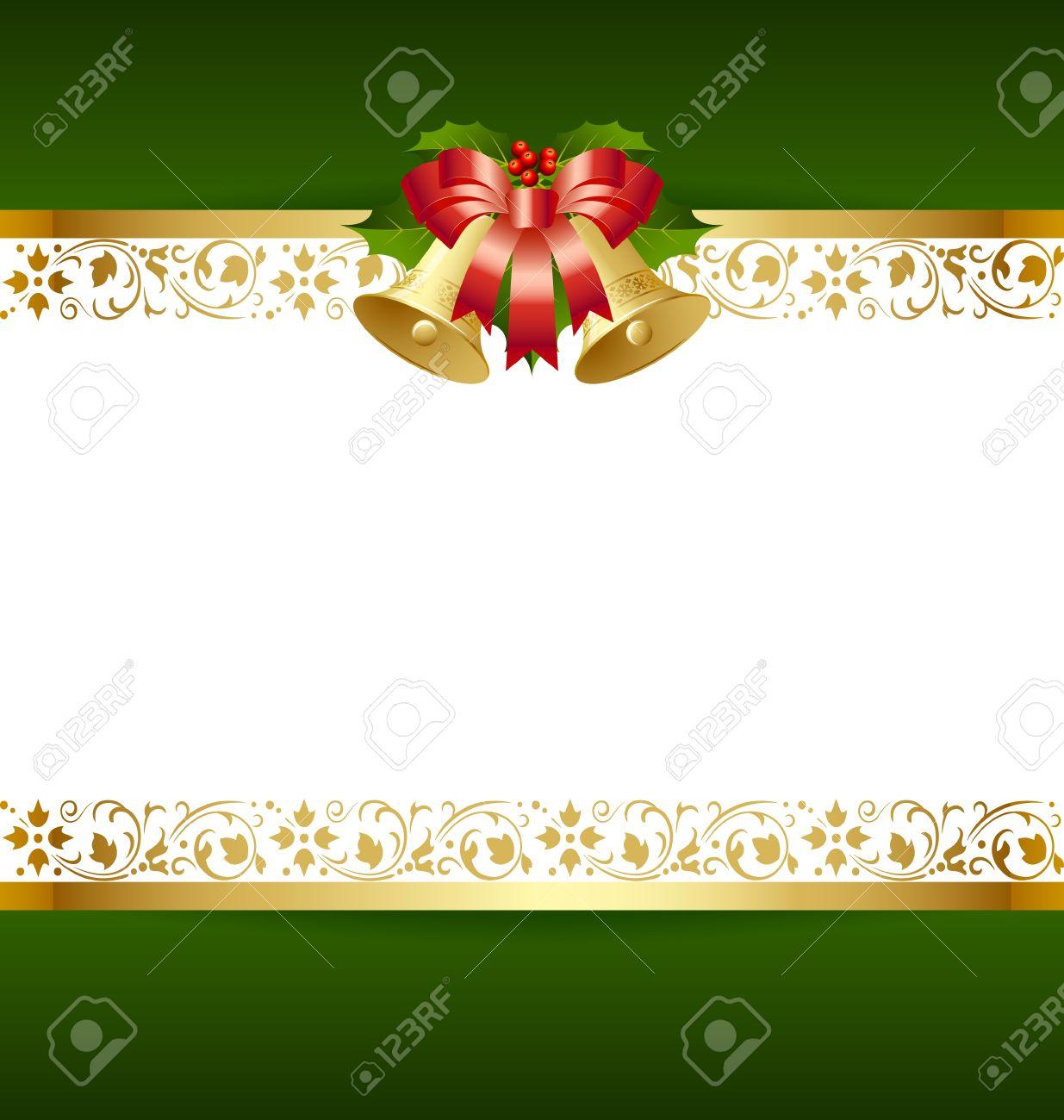 Estilizada Plantilla De La Tarjeta De Navidad Con La Decoración ...