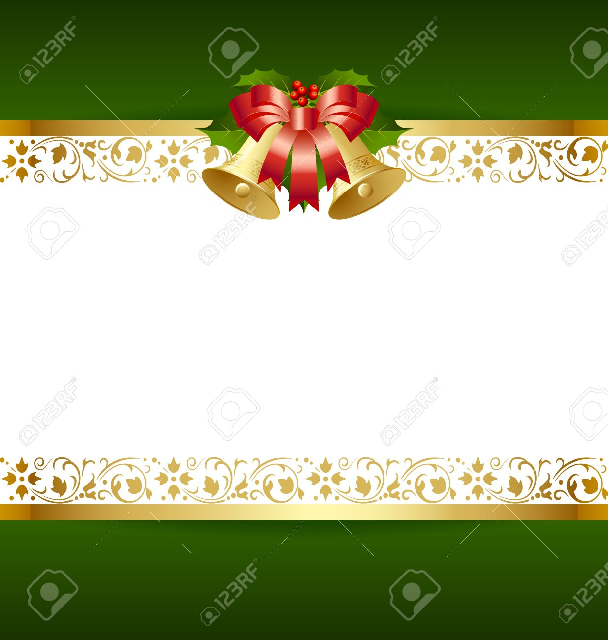 Stylized Christmas Card Template With Decoration Royalty Free ...