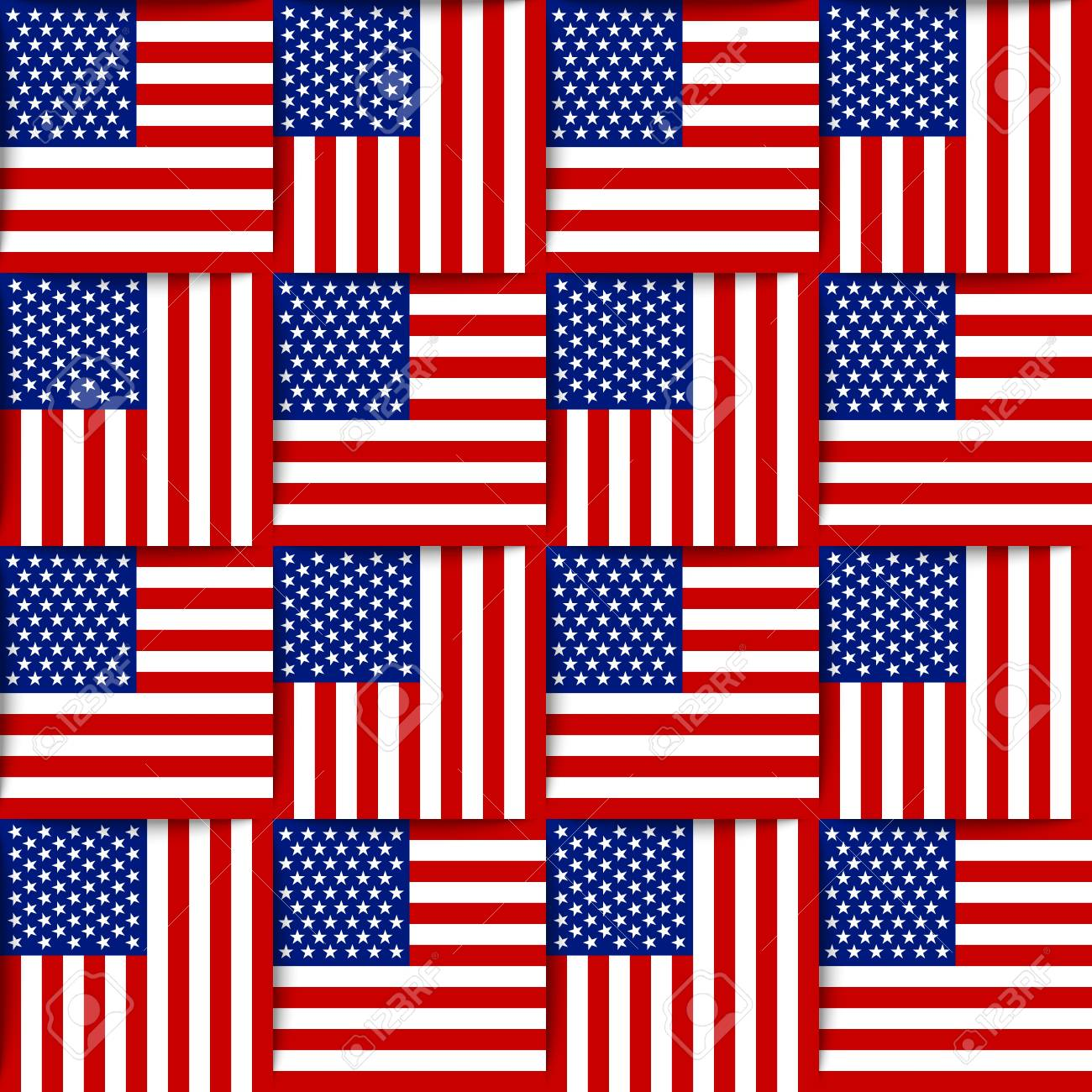 Seamless pattern composed from national flags of the United States of America Stock Vector - 20457535