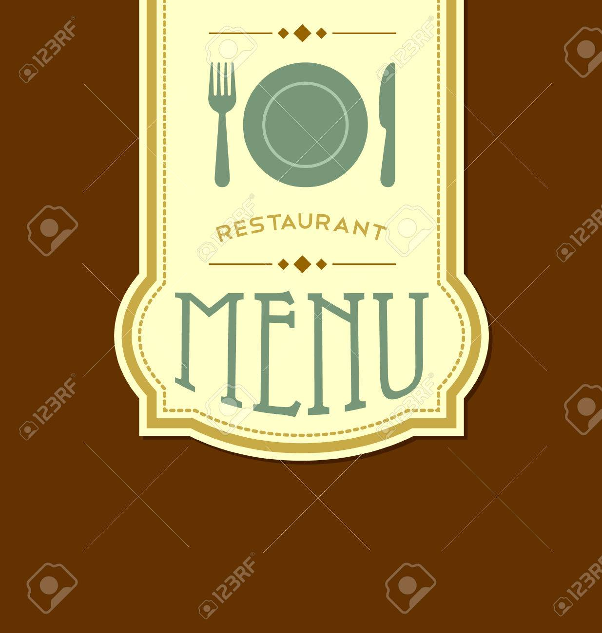 restaurant menu cover template in retro style royalty free cliparts