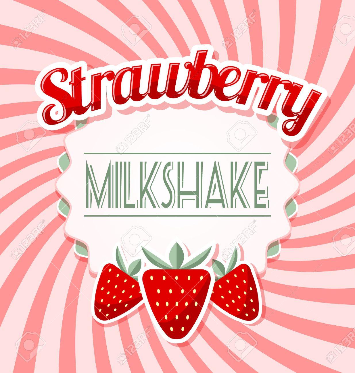 Milk-shake Vector Set Stock Vector - Image: 41542066
