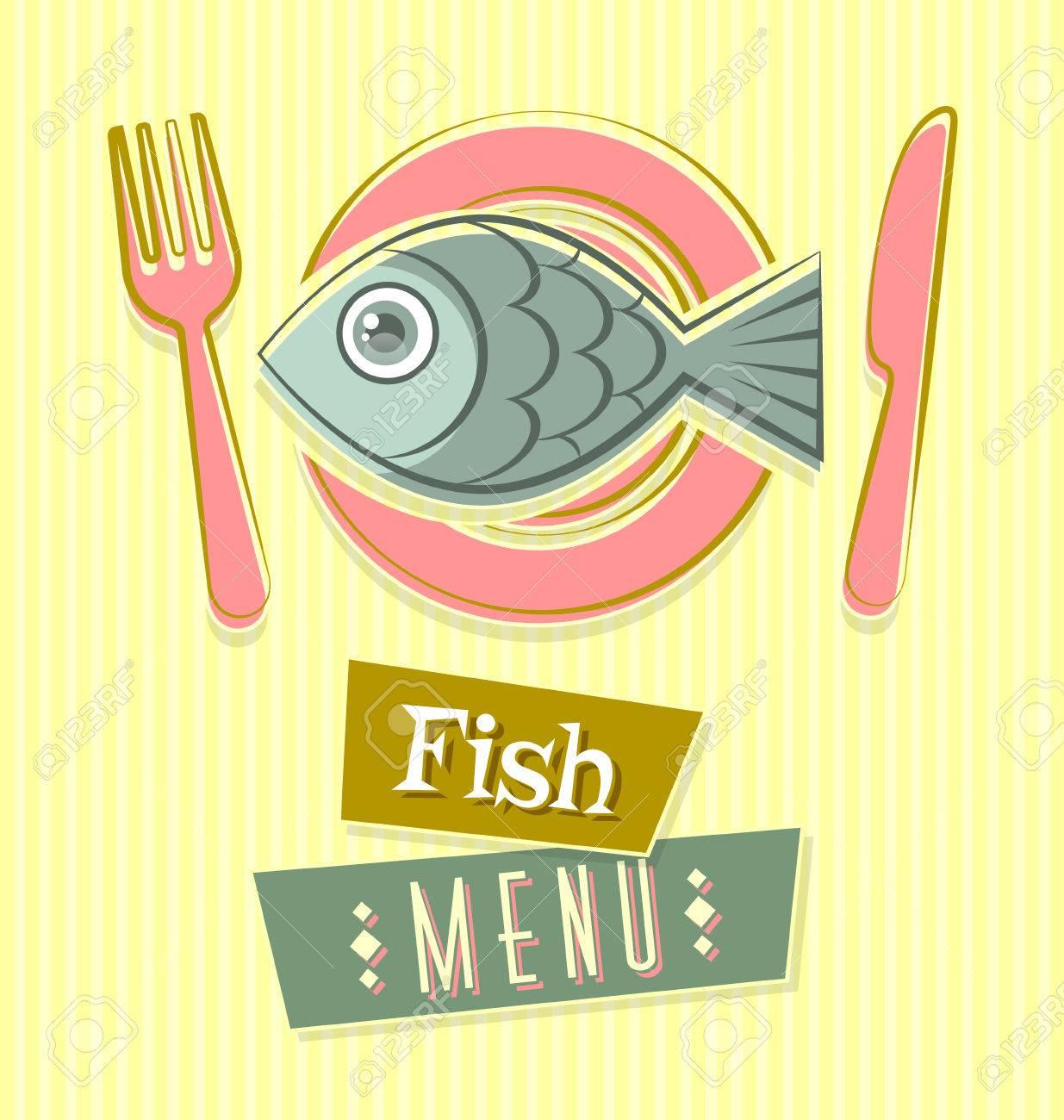 fish restaurant menu cover document template in retro style fish restaurant menu cover document template in retro style stock vector 29862877