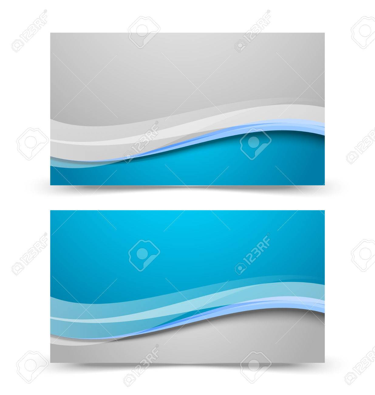 Blank Front And Back Side Business Card Template Isolated On White Background Stock Vector