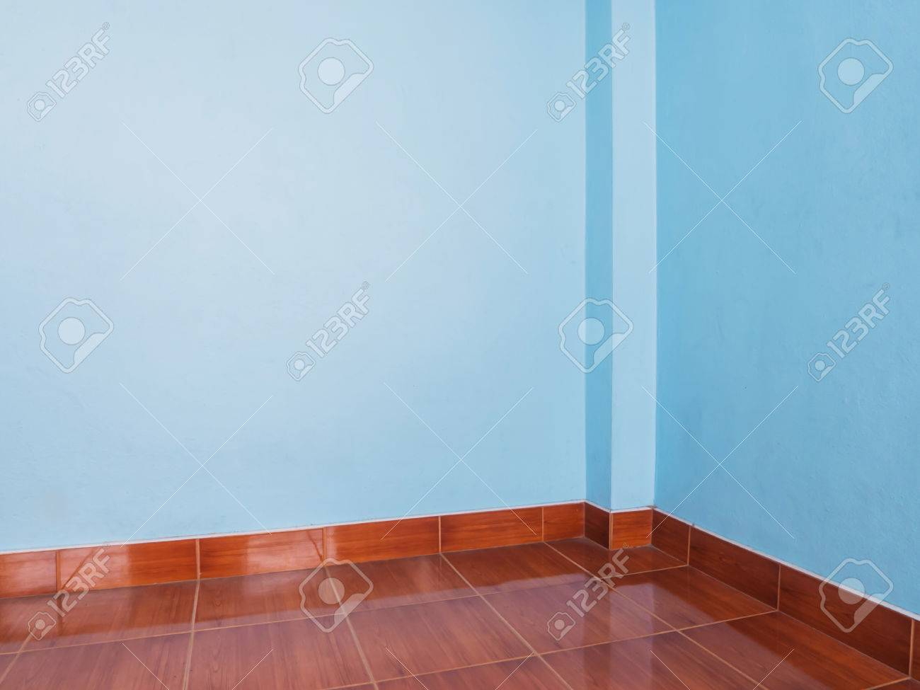Light Blue Wall And Floor Tiles Wood Pattern As Background Stock ...