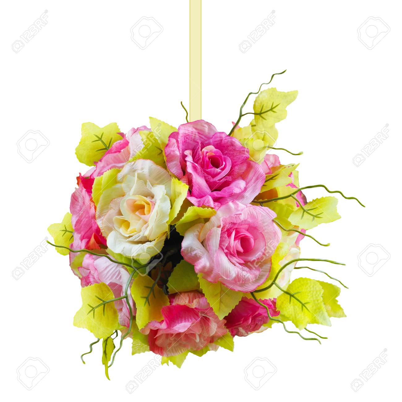 Beautiful Flower Ball Shape With Ribbon For Wedding Party Decoration