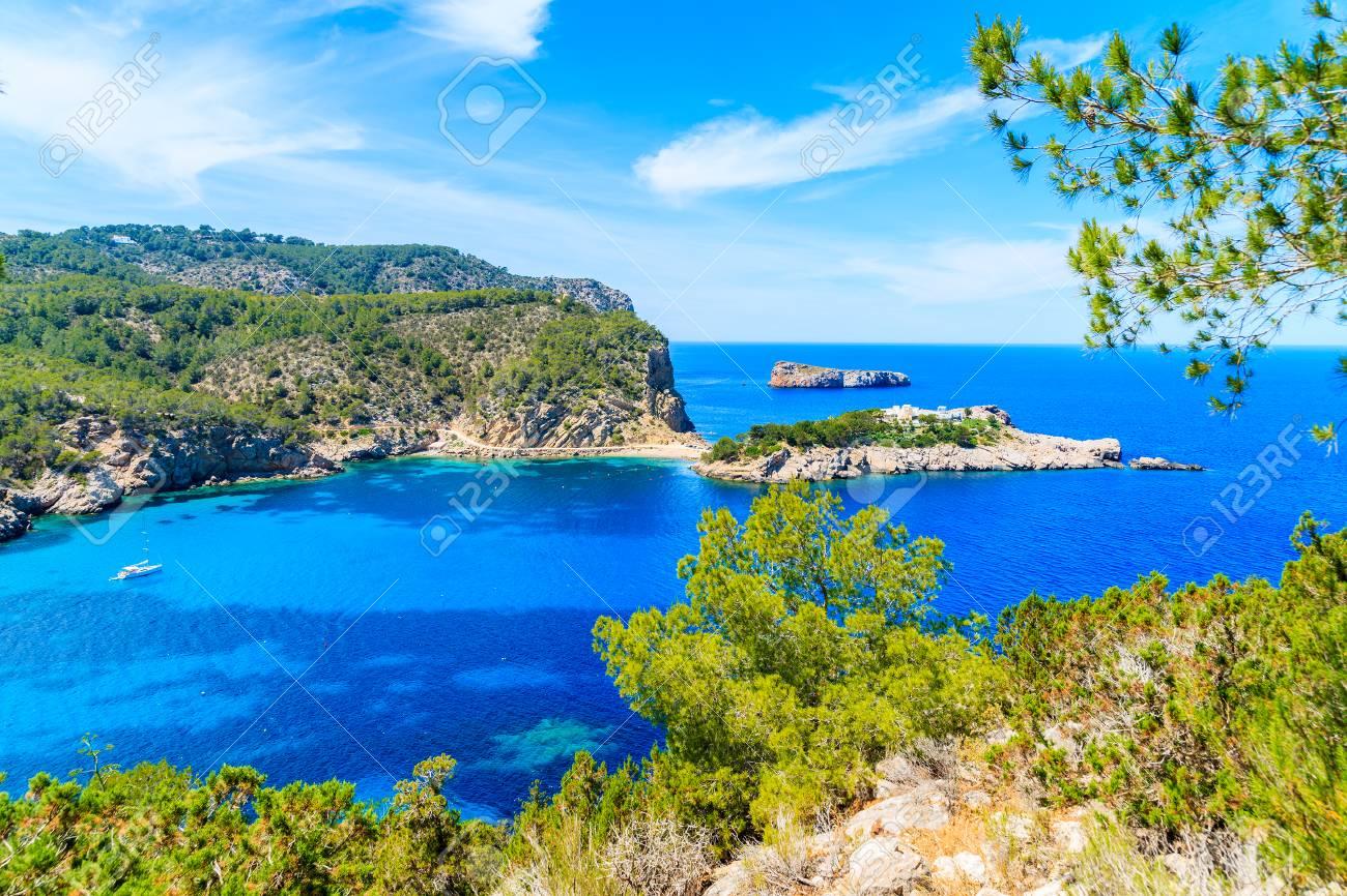 Amazing view of Ibiza northern coast between Cala Xarraca bay
