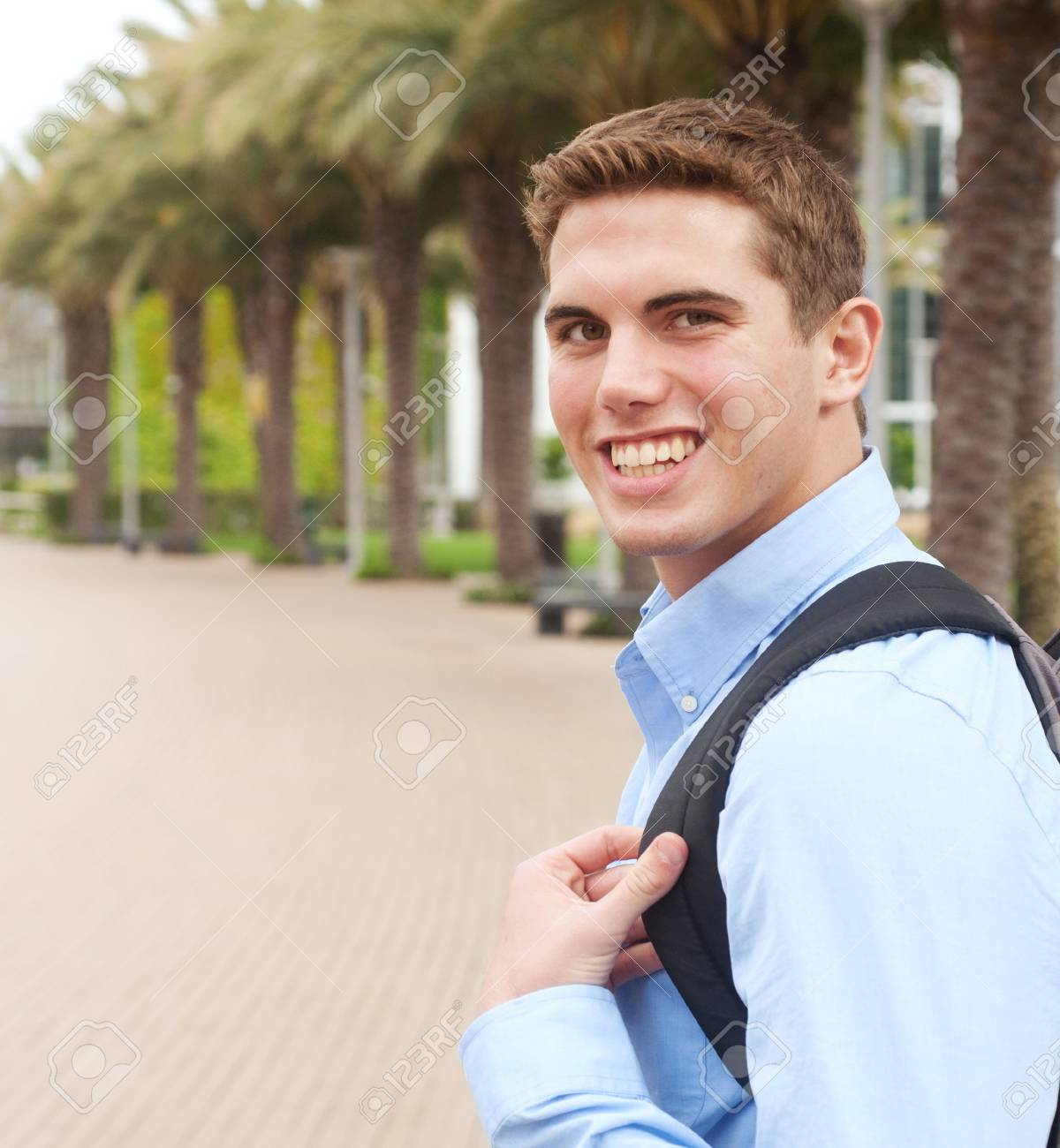 portrait of a young college student on campus Stock Photo - 13675638