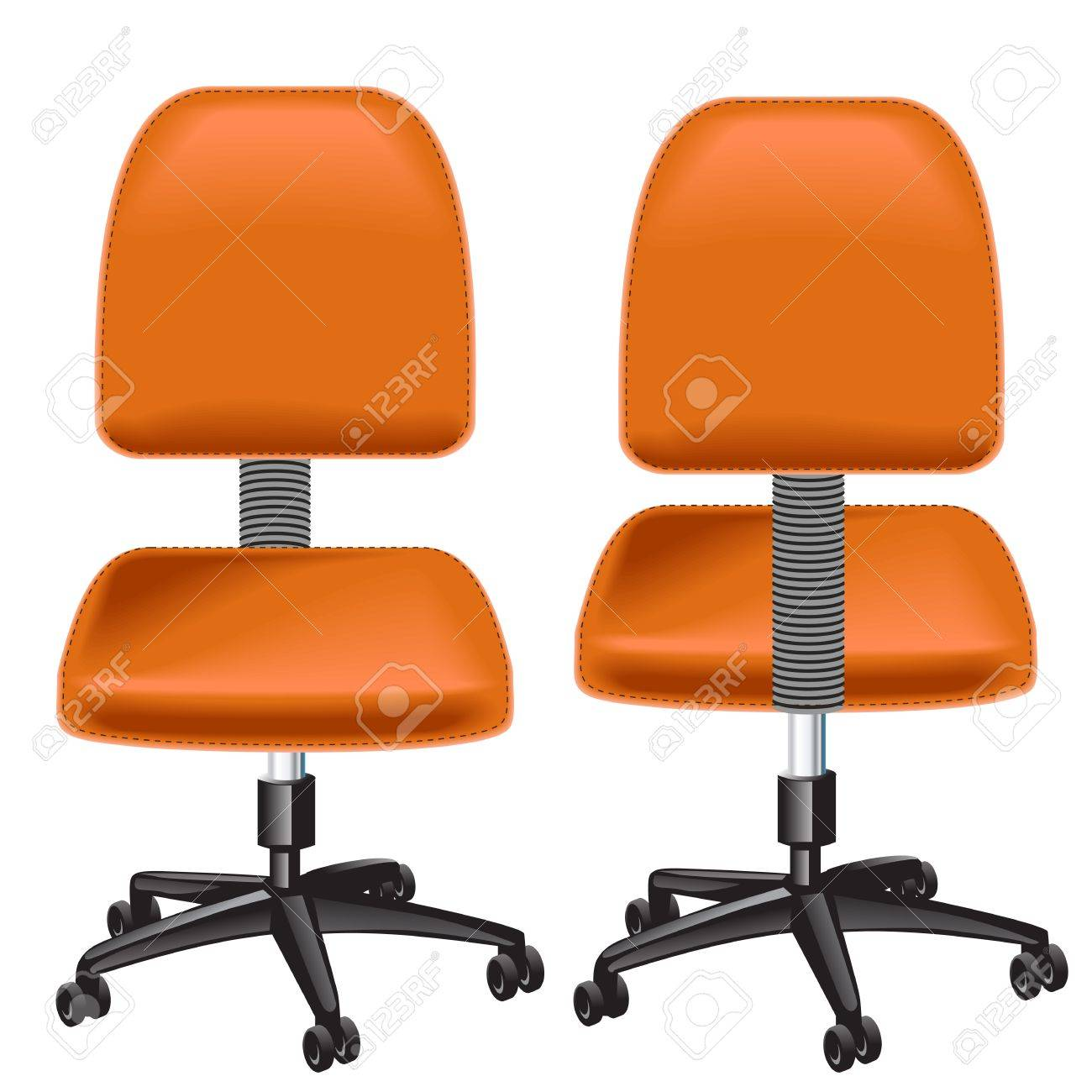 Yellow office chair isolated on white background Stock Vector - 9944505