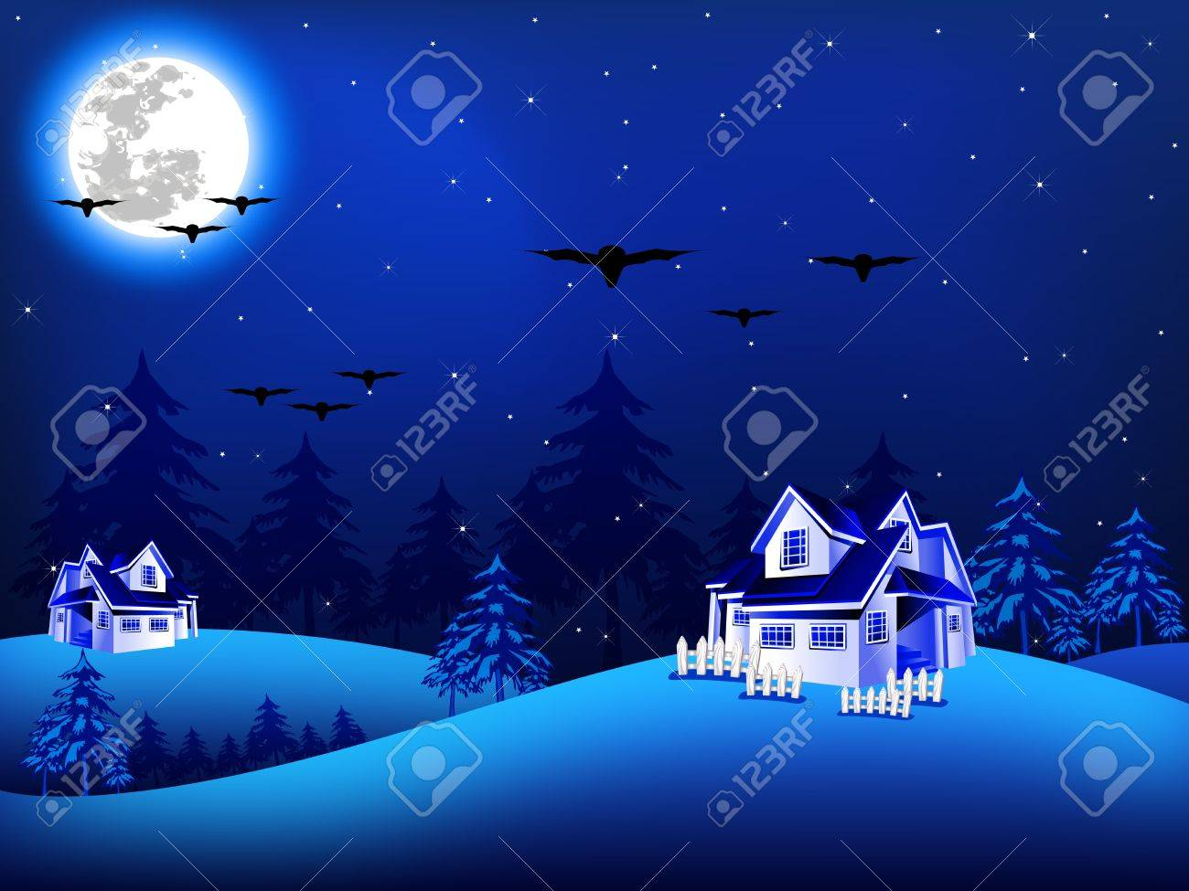 illustration of Christmas night Stock Vector - 11513815