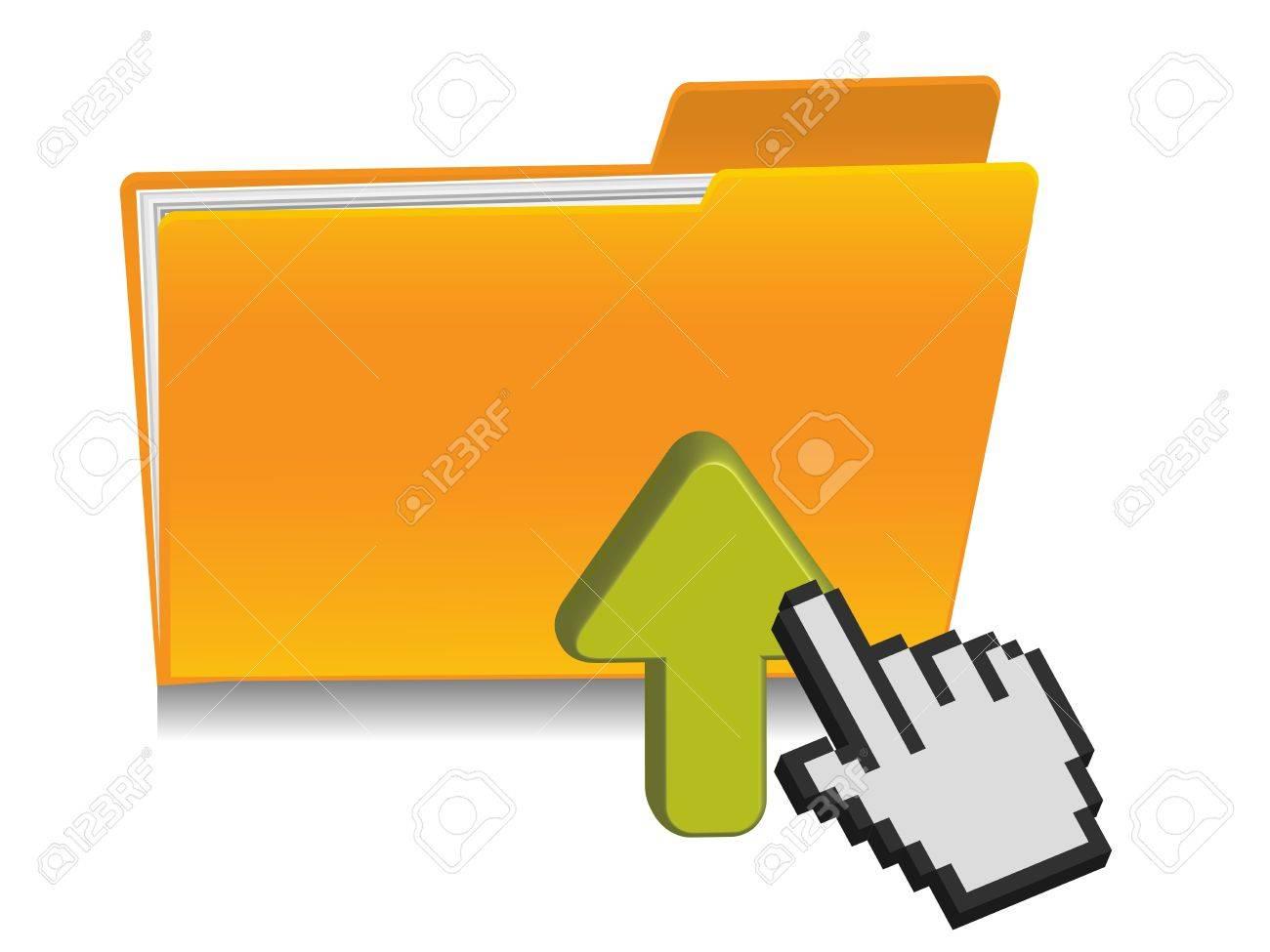 upload folder icon Stock Vector - 12268698