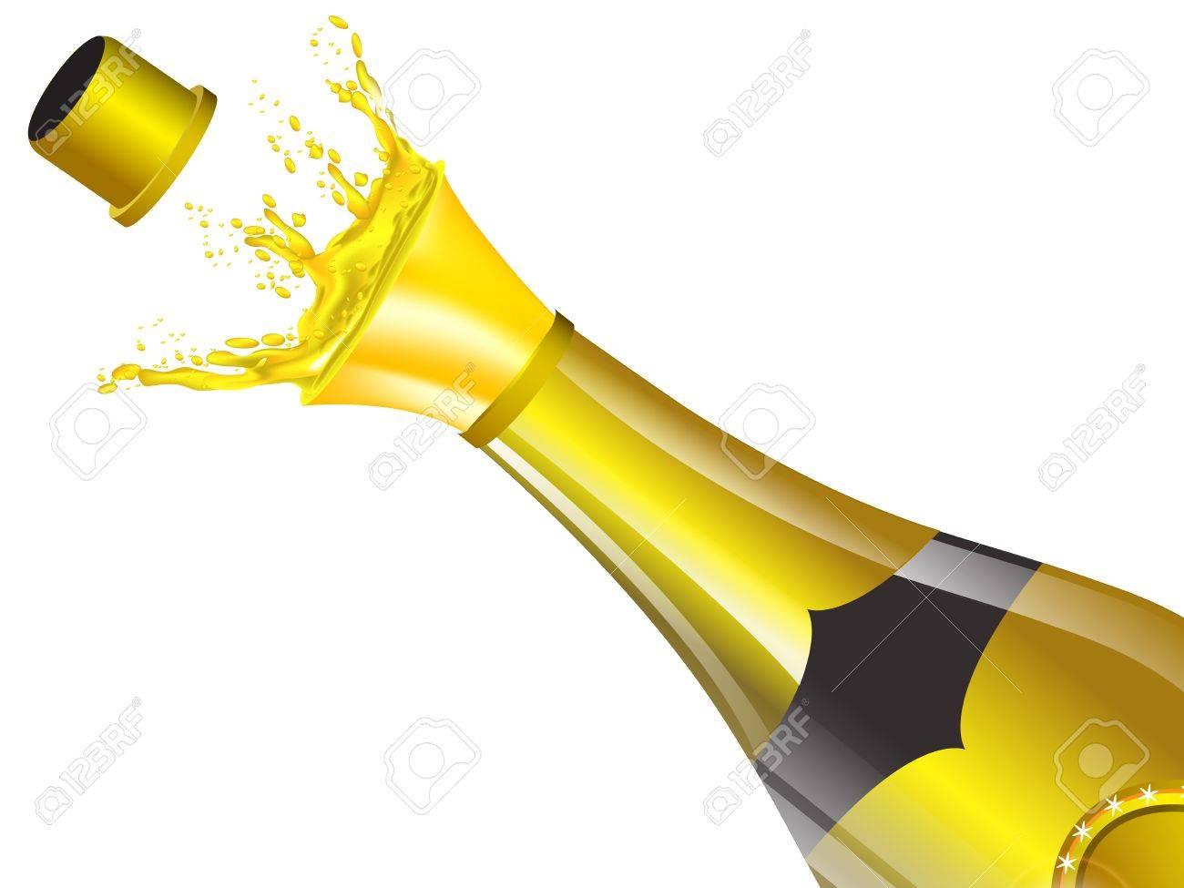 Champagne Bottle Png Background Image - Champagne Bottle Transparent  Background Clipart (#443409) - PikPng