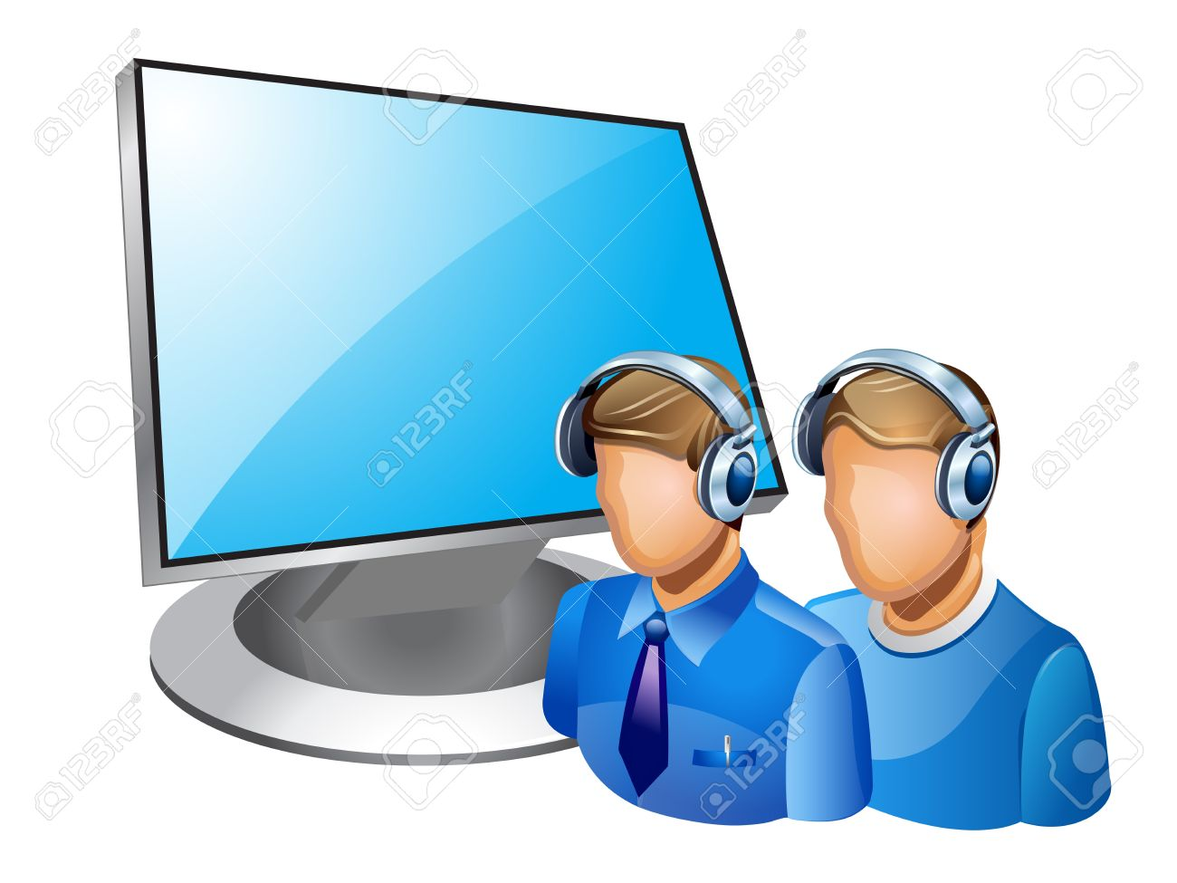 illustration of computer admin on white background Stock Vector - 12803097