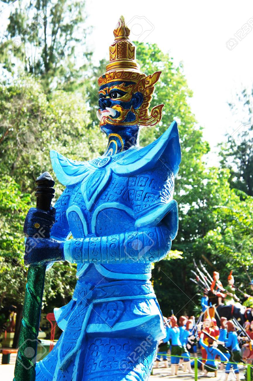 A giant statue of the blue Stock Photo - 16254434