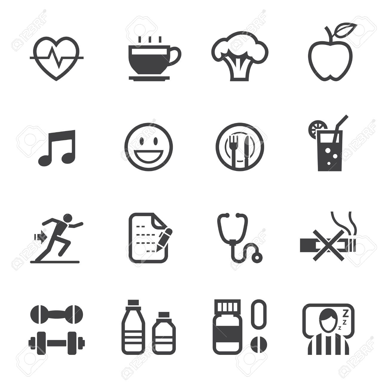 Wellness icon  Health Icon And Wellness Icons With White Background Royalty Free ...