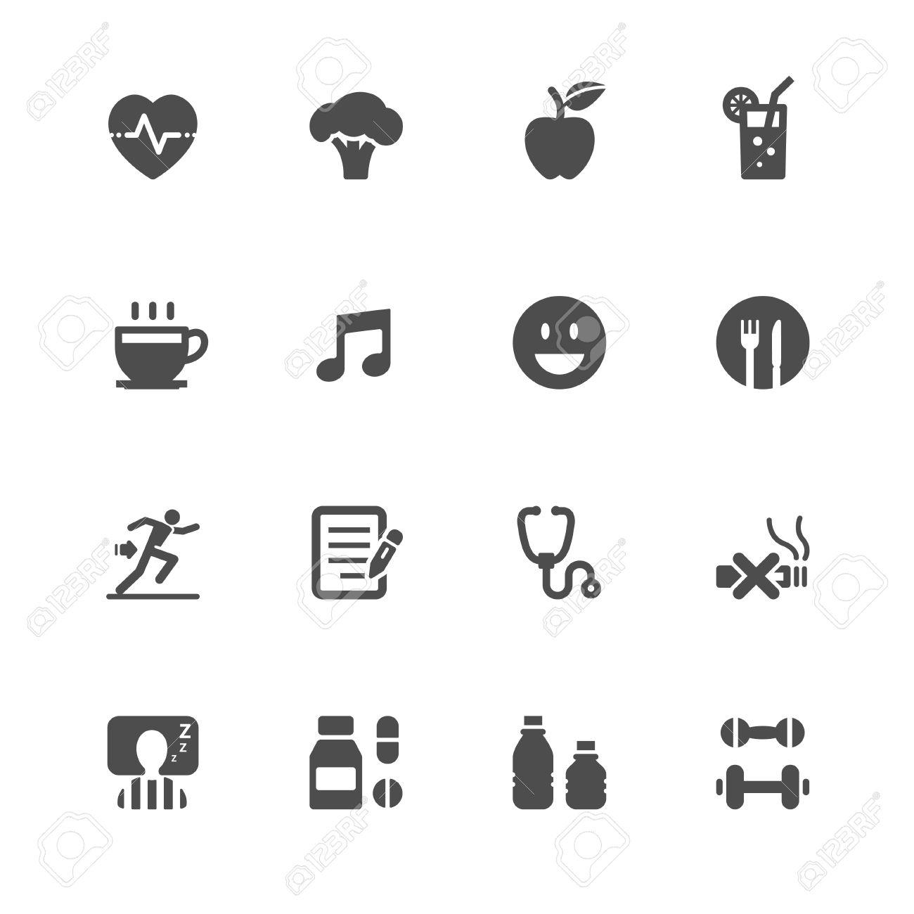 Wellness icon  Gesundheit Und Wellness Icons Mit Weißem Hintergrund Lizenzfrei ...