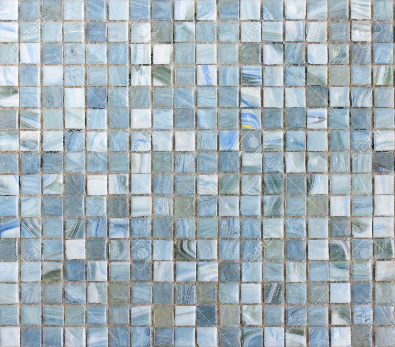 Blue Mosaic Tiles Abstract Texture And Background Stock Photo ...