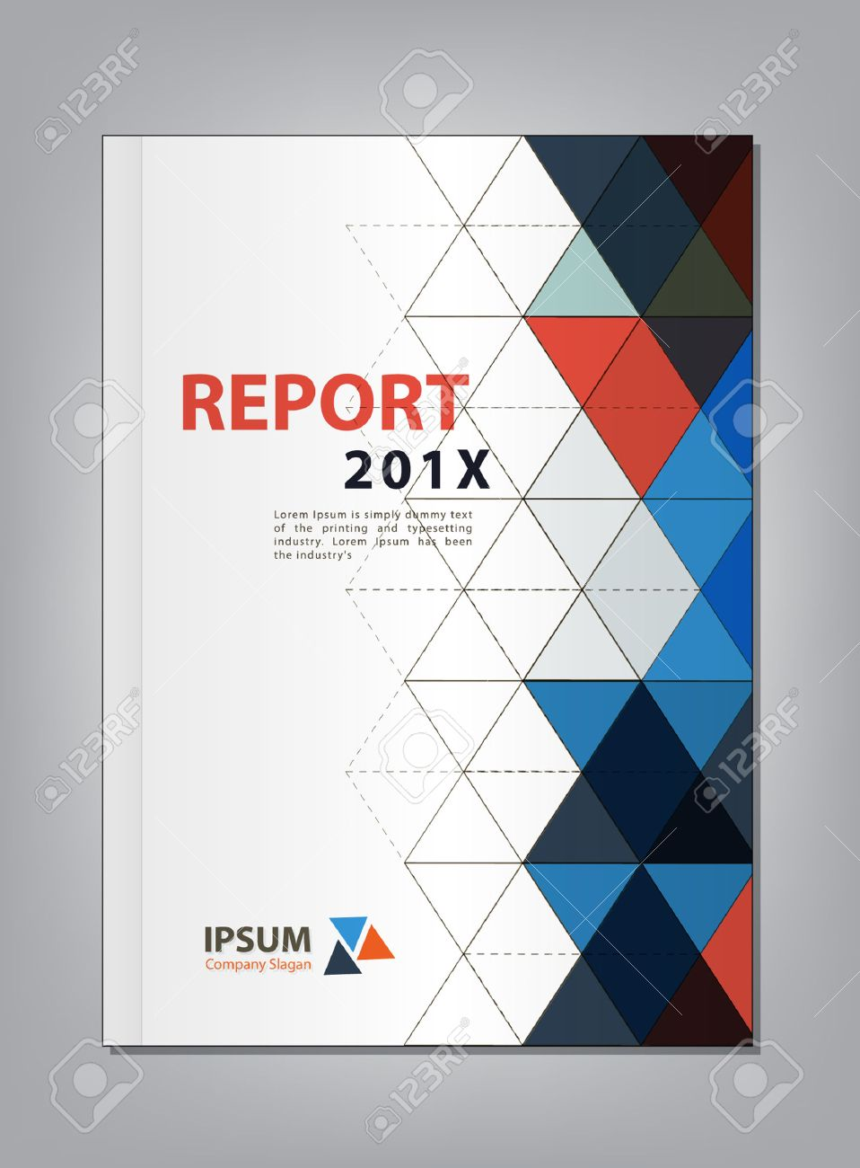 modern annual report cover design multiply triangle theme concept stock vector 42722547