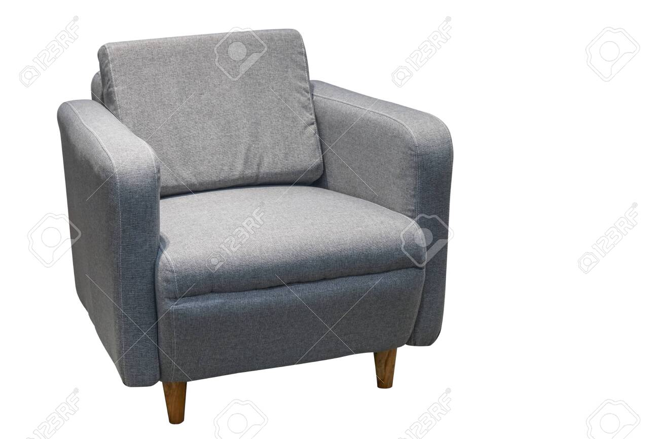 Remarkable Gray Single Sofa In Modern Style Isolated On White Pabps2019 Chair Design Images Pabps2019Com