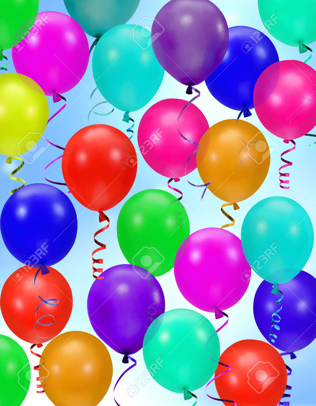 colorful party balloons background Stock Photo - 719671