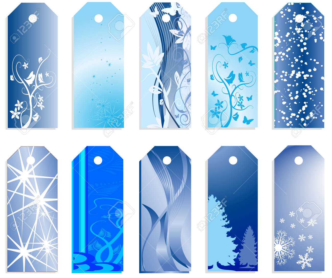 Christmas banners or price tags in vector design - 3883911