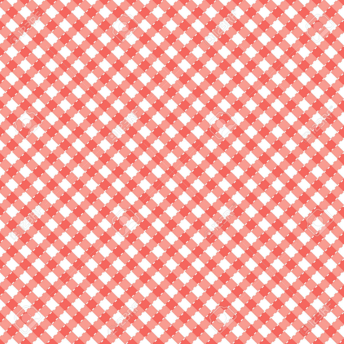 Red and white popular background pattern for picnics - 4231045